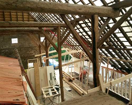 verbouwing boerderij bouwbedrijf jongsma binnen