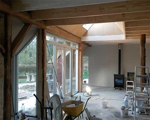 verbouwing boerderij bouwbedrijf jongsma kamer