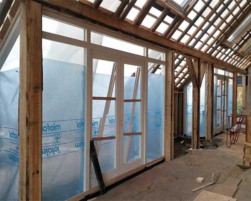 verbouwing bouwbedrijf jongsma constructie binnen